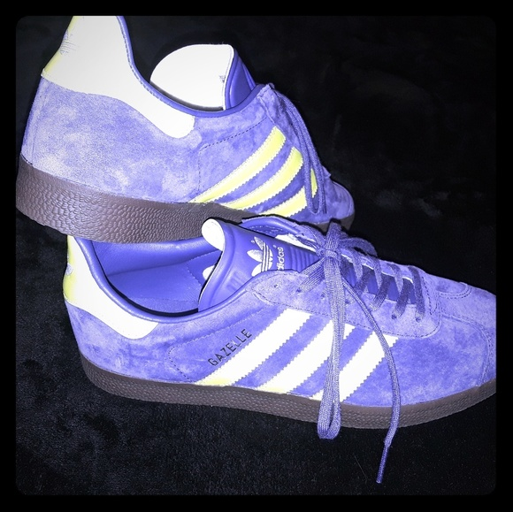 adidas Shoes   9 Mens Gazelle Suede Purple Lime Green Nwt